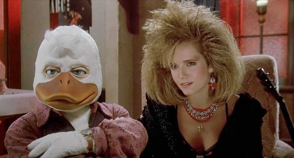 howard the duck and lea thompson in howard the duck