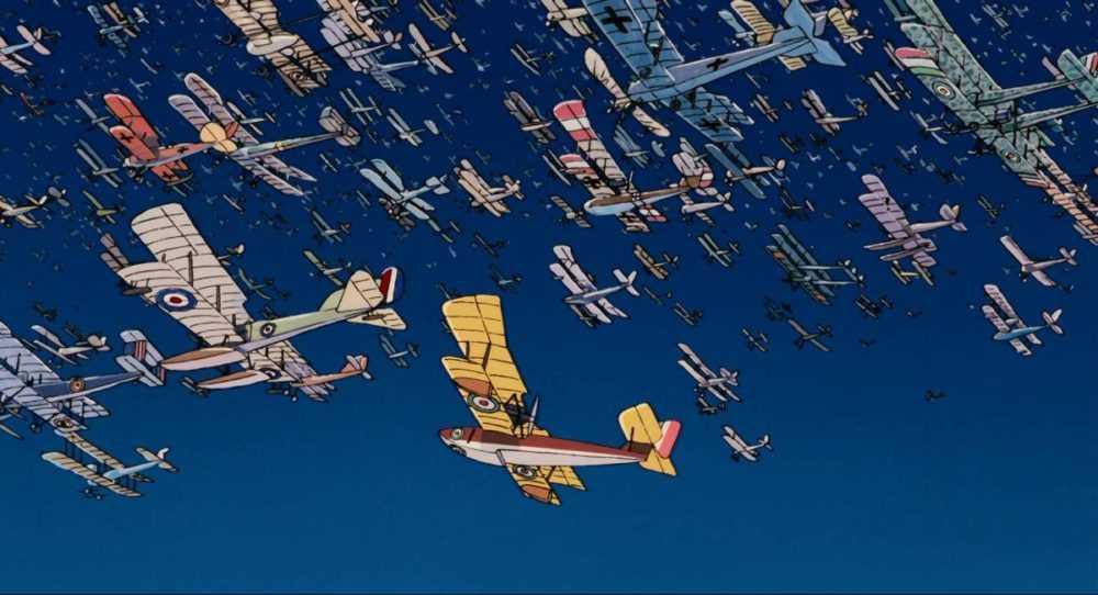 many battered planes flying together