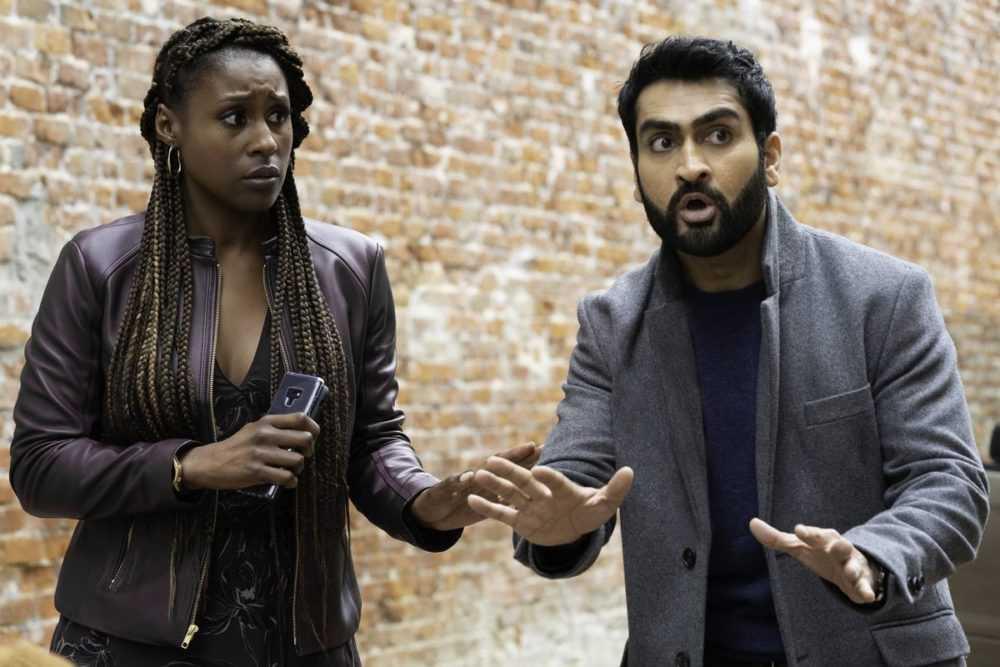 issa rae and kumail nanjiani look shocked