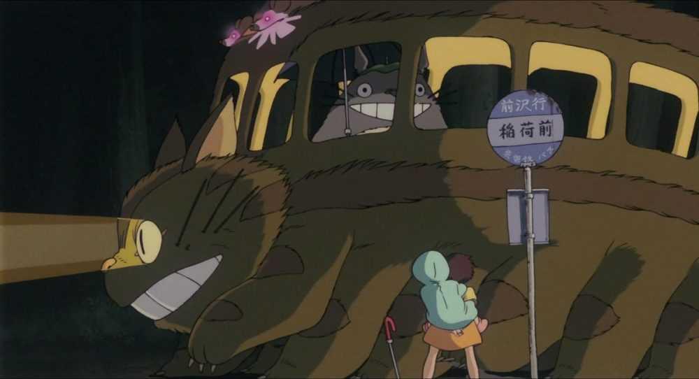 cat bus drives totoro away