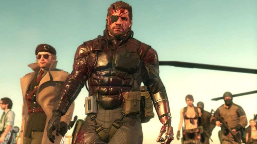Metal Gear Solid 5: The Phantom Pain - bloody Snake and others