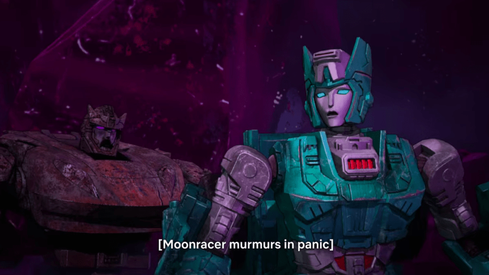 Moonracer is devoured by zombie Transformers on War for Cybertron - Siege