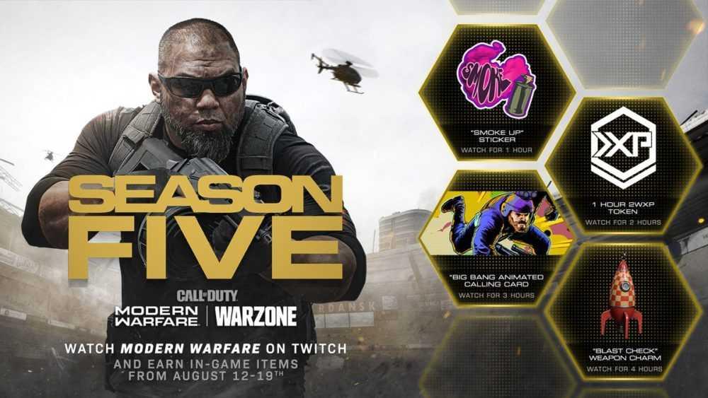 Call of Duty: Modern Warfare and Warzone Twitch rewards
