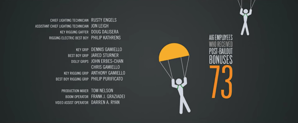 A screencap of The Other Guys end credits